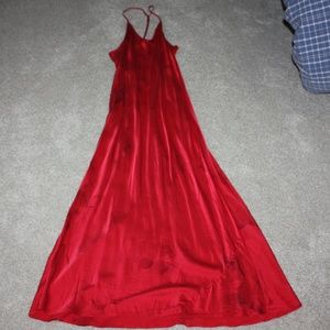 Victoria's Secret Red Roses Maxi Slip Dress